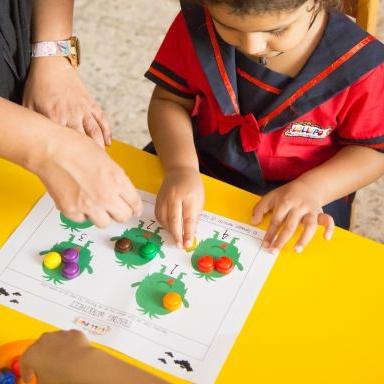 Learning maths activities at Lollipop Nursery Sharjah